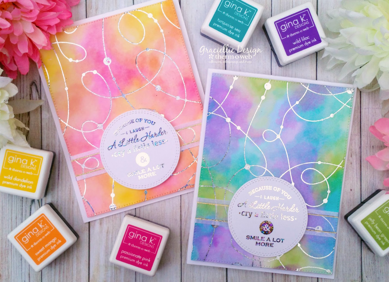 Get a Watercolored Effect with Inks – Gina K  Designs Foil