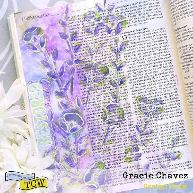 BibleJournalingwithTCWstencilsandSilverGesso_GracieChavez_1