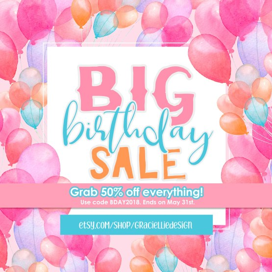 GraciellieDesign_BirthdaySale_BDAY2018